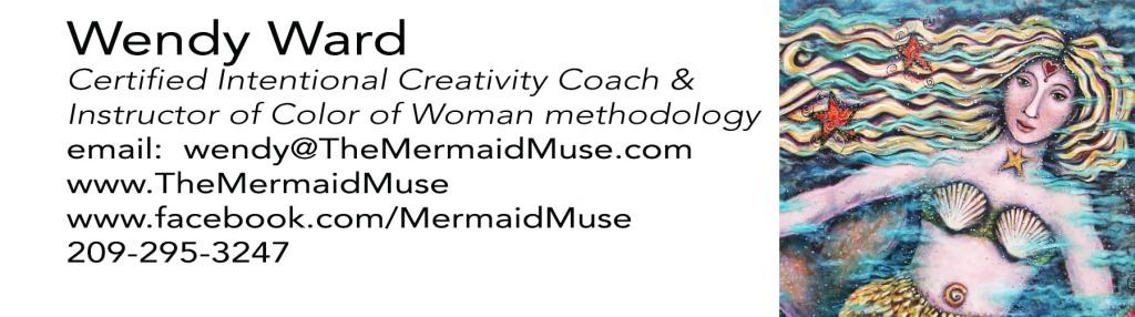 Mermaid Muse Calling Card